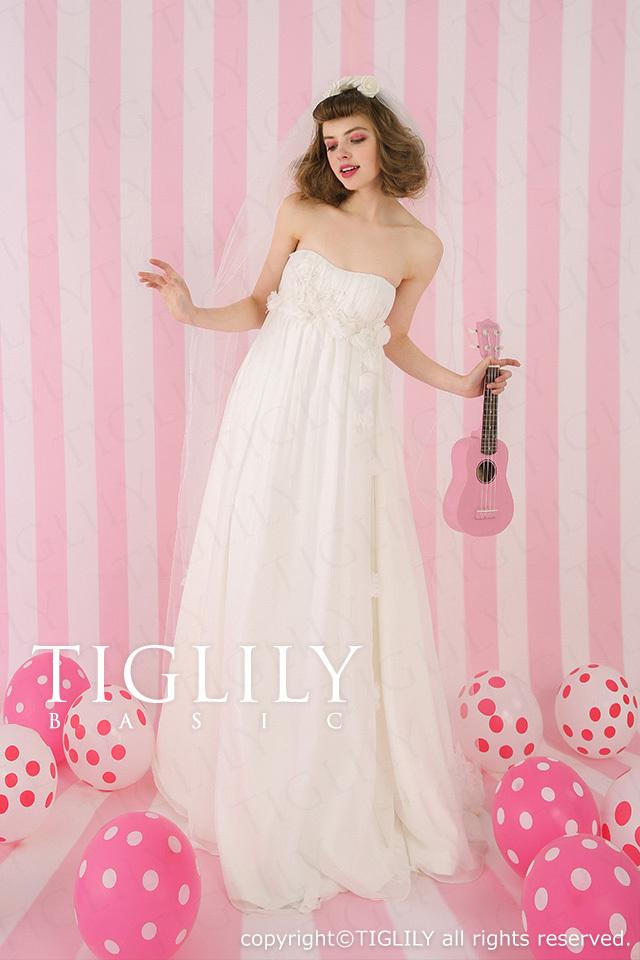 TIGLILY BASIC ホワイトドレスwb001