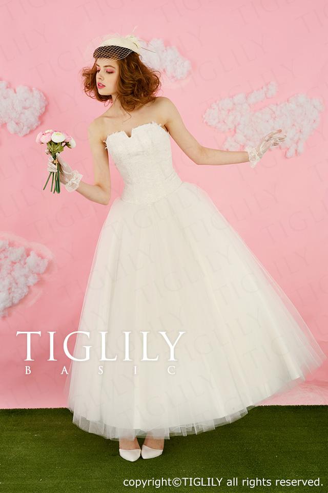 TIGLILY BASIC ホワイトドレスwb002