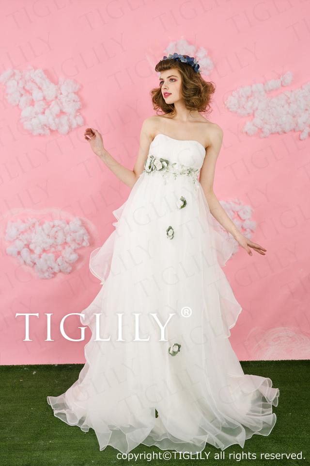 【TIGLILY】ウェディングドレス_ホワイトドレス(wb003)