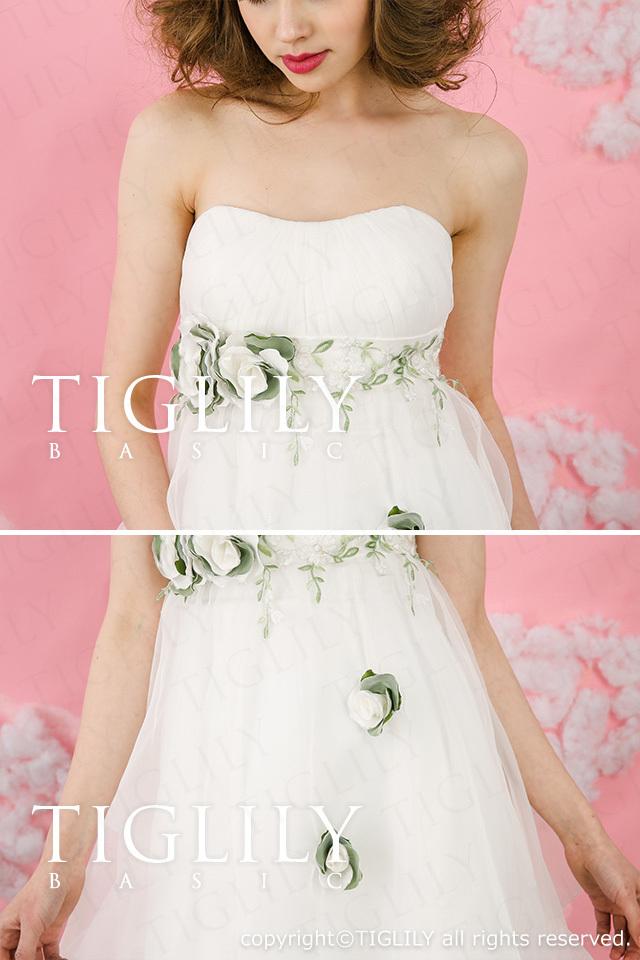TIGLILY BASIC ホワイトドレスwb003