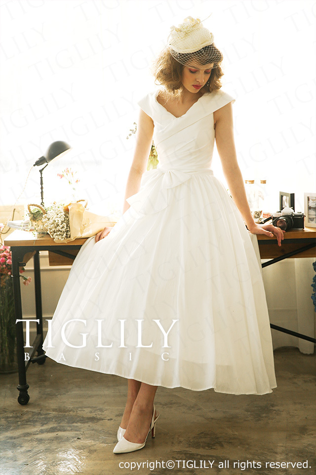 TIGLILY BASIC ホワイトドレスwb004