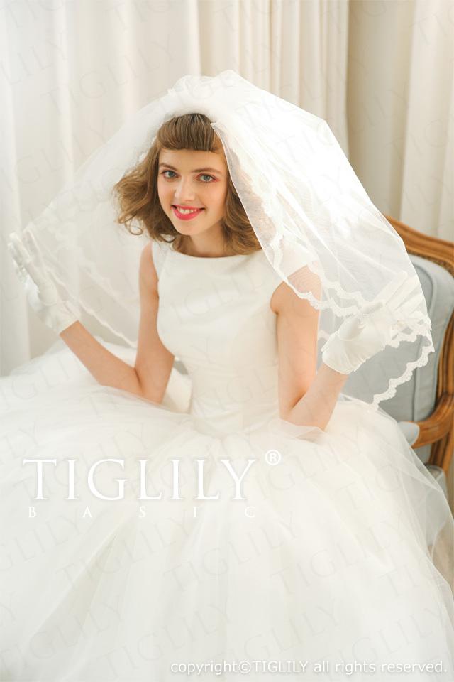 TIGLILY BASIC ホワイトドレスwb005