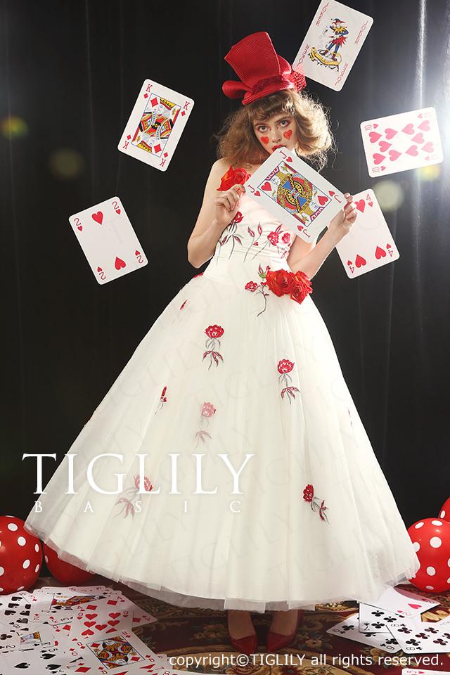 TIGLILY BASIC ホワイトドレスwb006