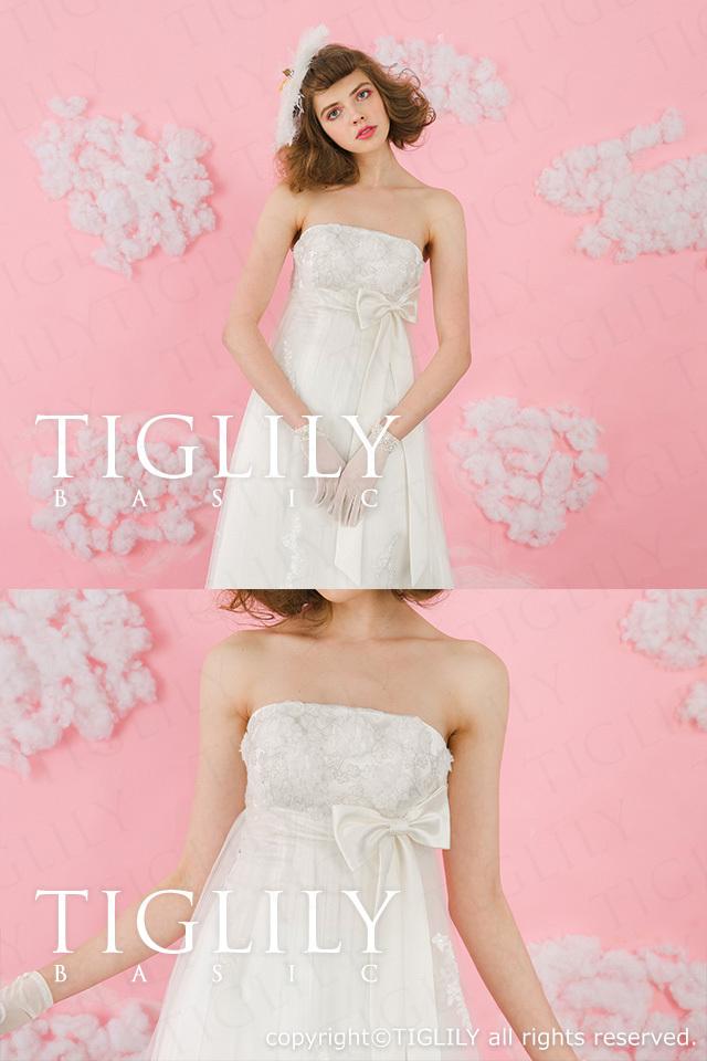 TIGLILY BASIC ホワイトドレスwb007