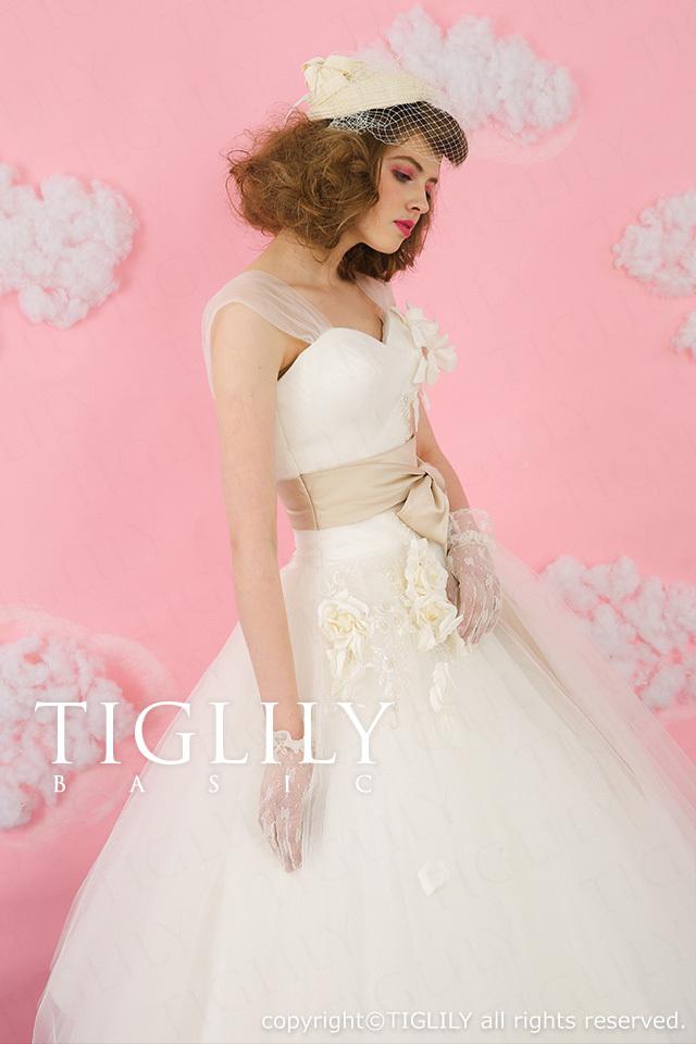 TIGLILY BASIC ホワイトドレスwb008