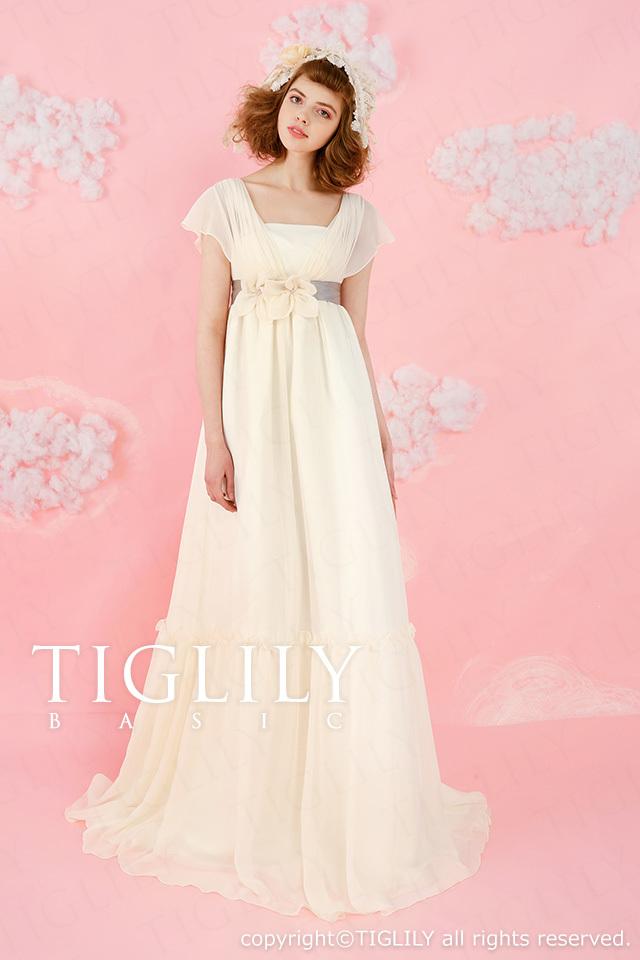 TIGLILY BASIC ホワイトドレスwb009