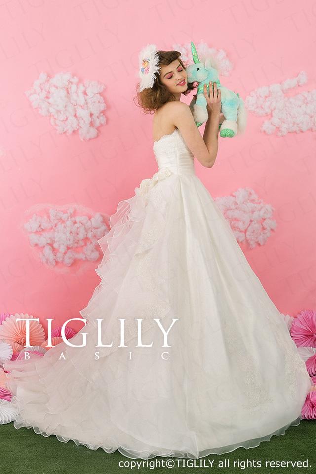 TIGLILY BASIC ホワイトドレスwb010