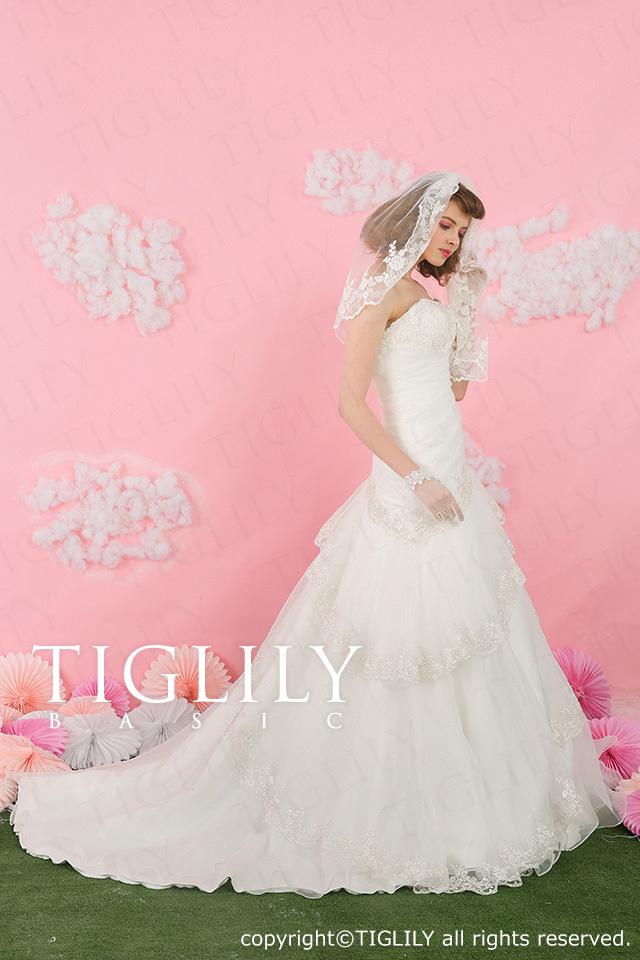 TIGLILY BASIC ホワイトドレスwb011