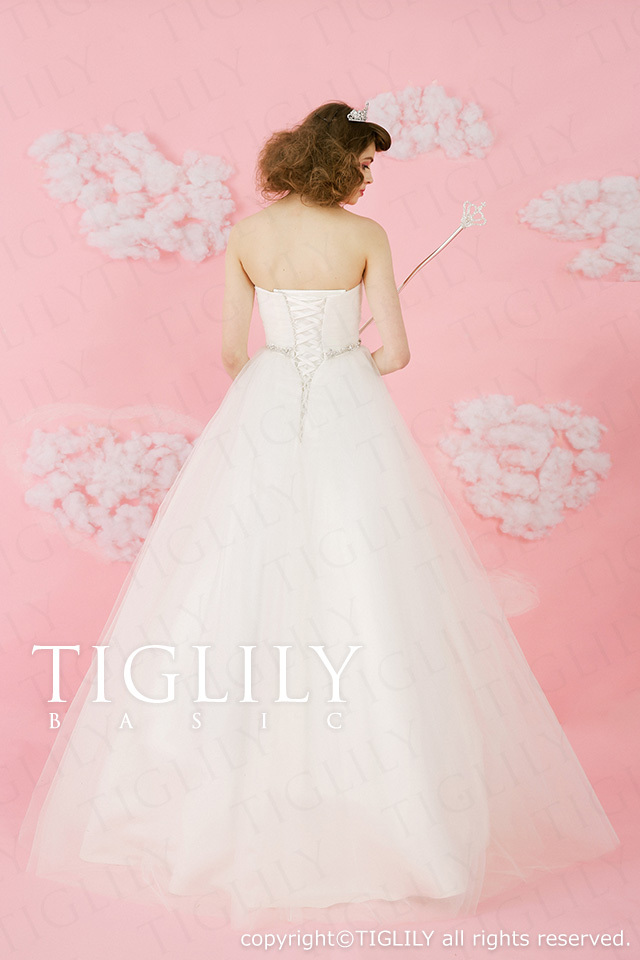 TIGLILY BASIC ホワイトドレスwb015