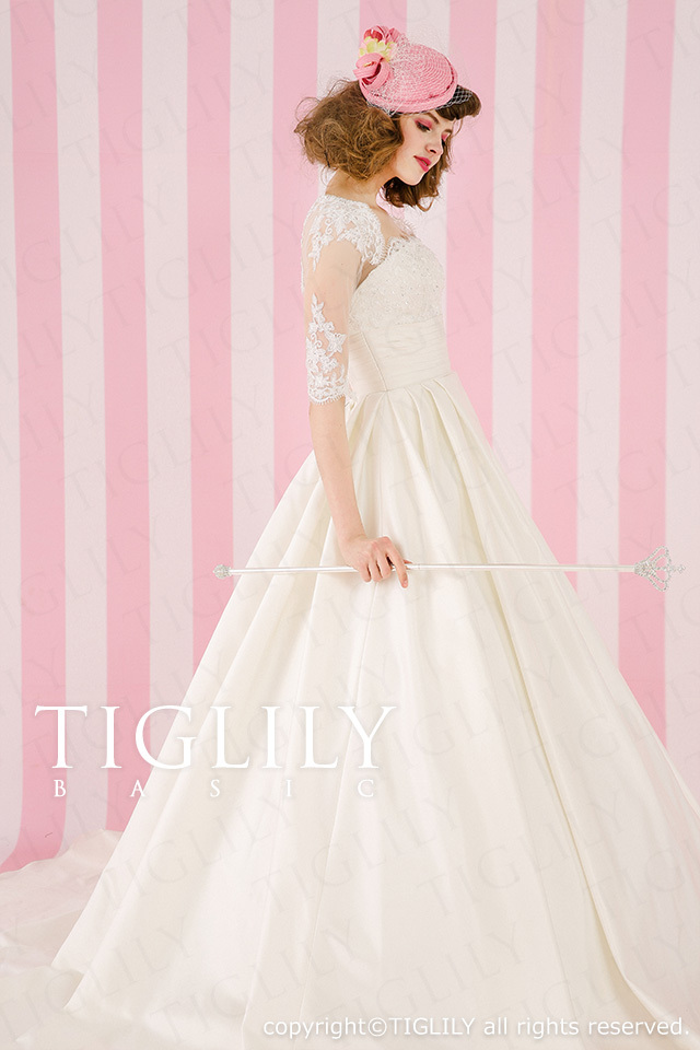 TIGLILY BASIC ホワイトドレスwb017
