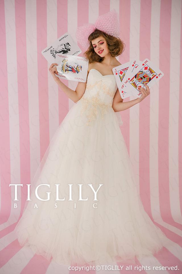 TIGLILY BASIC ホワイトドレスwb018