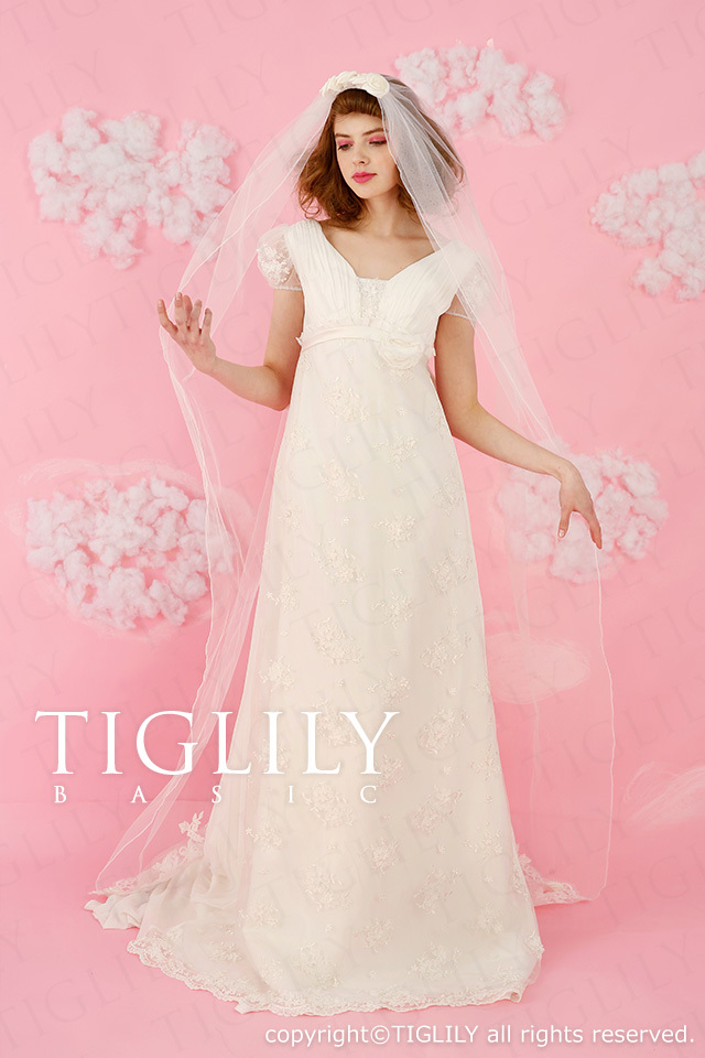 TIGLILY BASIC ホワイトドレスwb019