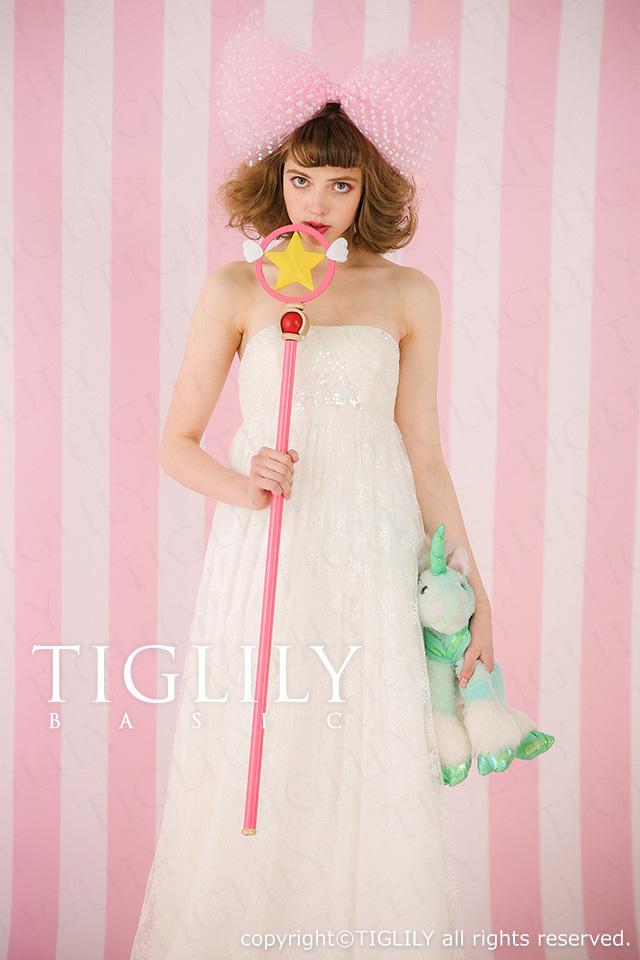 TIGLILY BASIC ホワイトドレスwb021