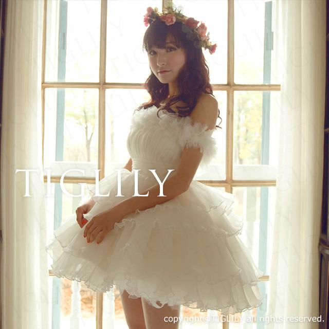 TIGLILY ミニドレス s096