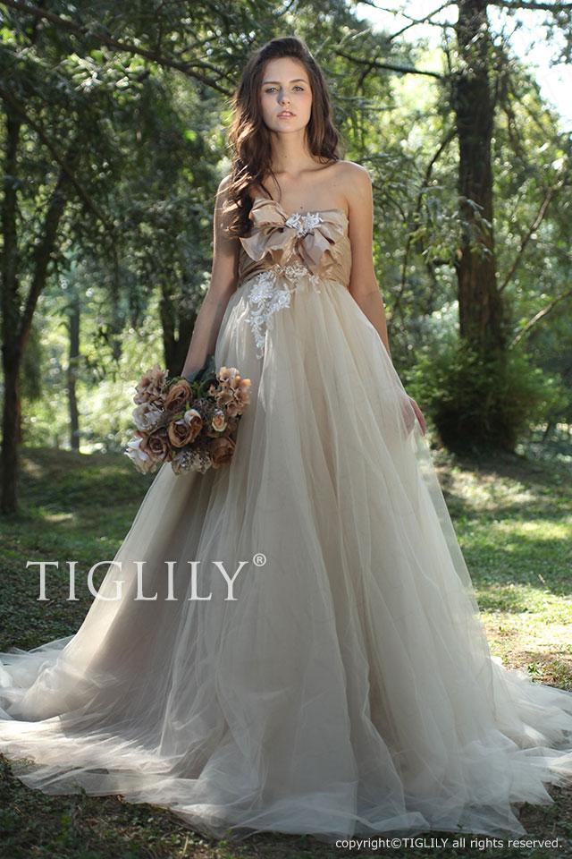w2004 TIGLILY ティグリリィ ホワイトドレス シャンペン・ホワイト