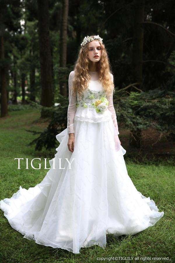 TIGLILY ホワイトドレス w301