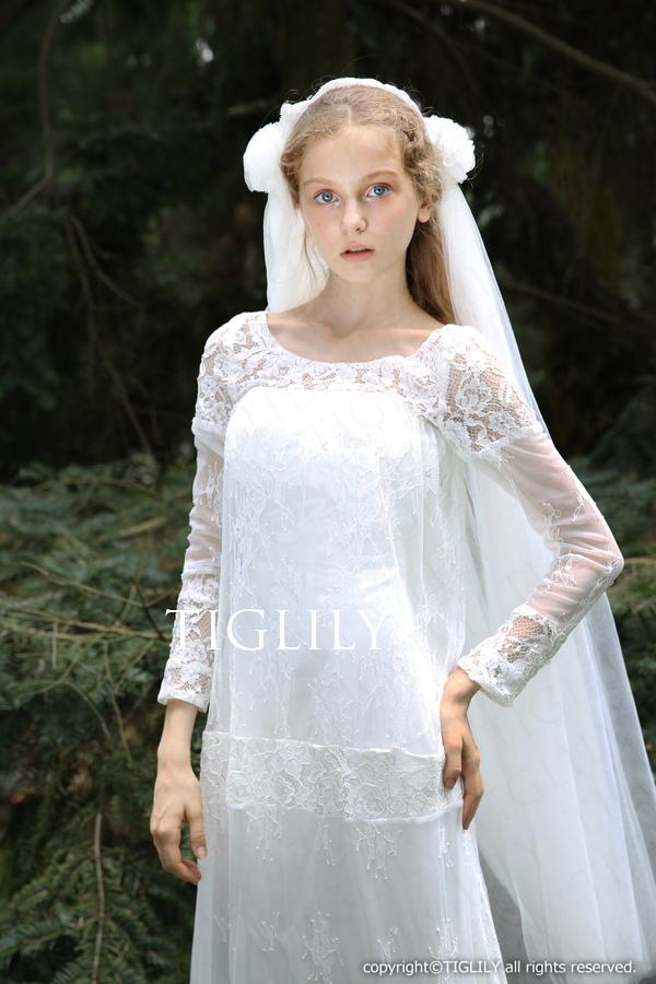 TIGLILY ホワイトドレス w310
