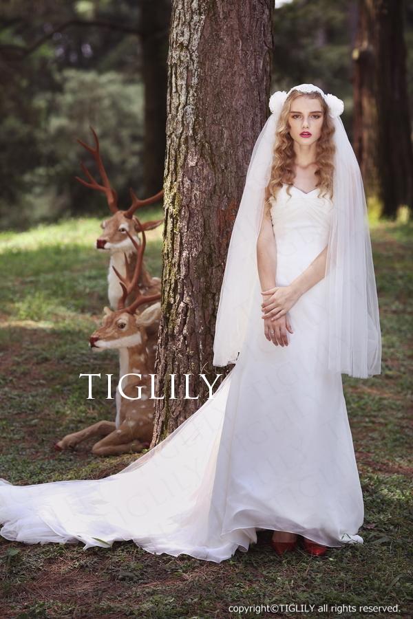 TIGLILY ホワイトドレス w313