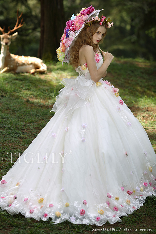 TIGLILY ホワイトドレス w316