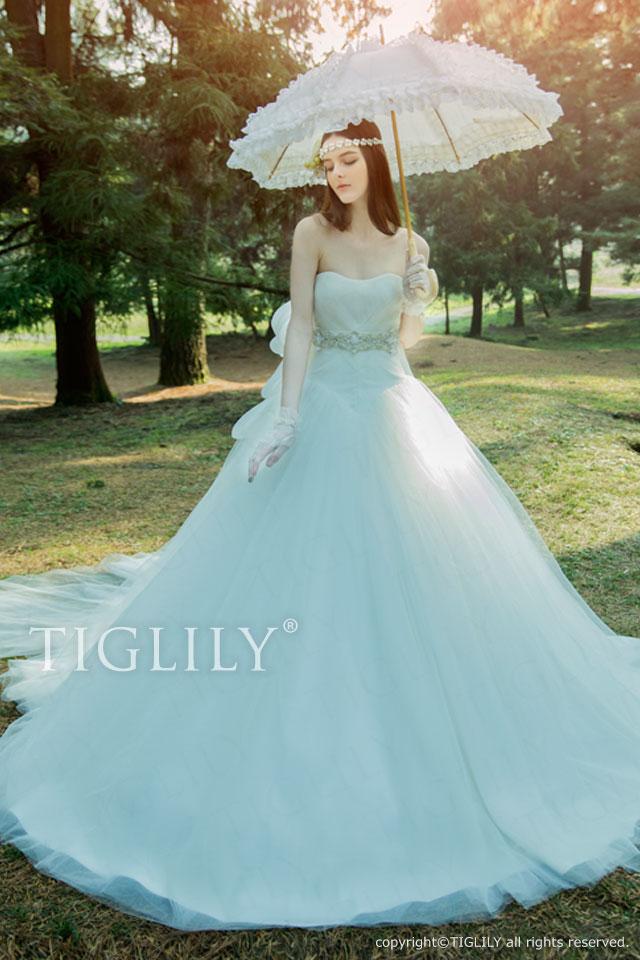ララ Lara TIGLILY ホワイトドレス w318