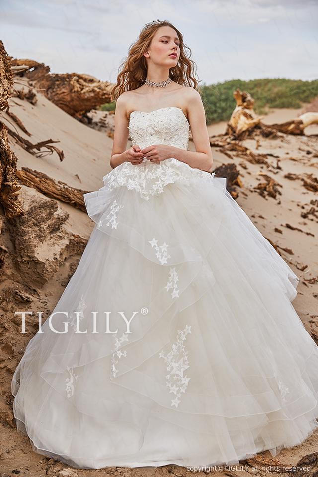 【アルーク aluke】ウェディングドレス_ホワイトドレス(w356)