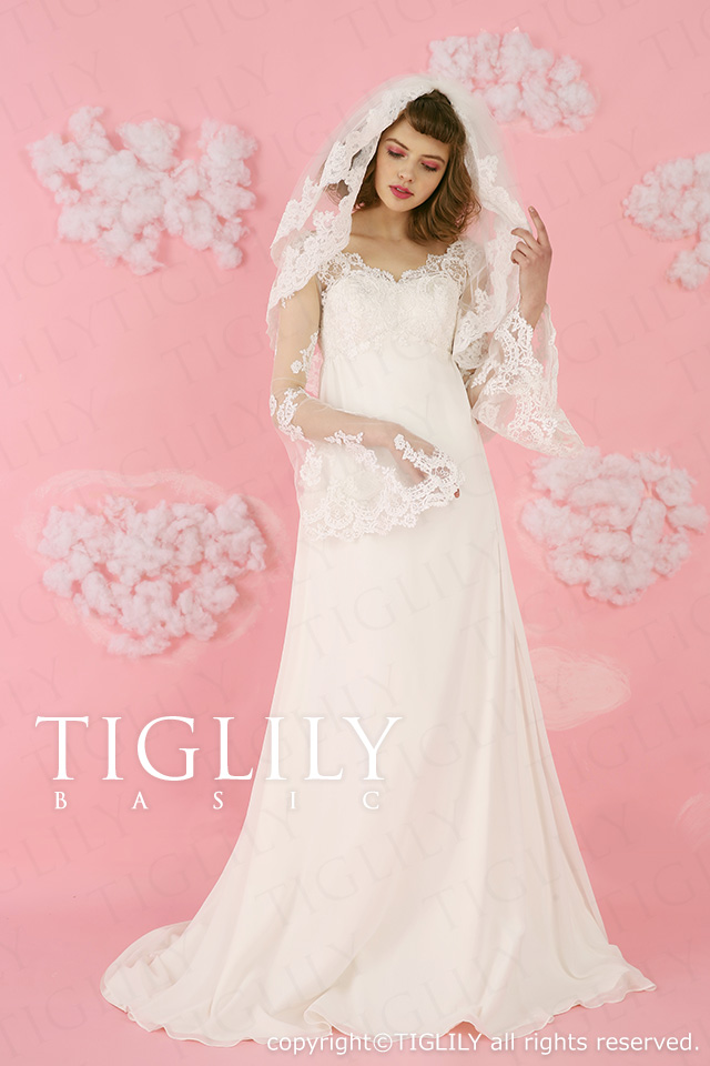TIGLILY BASIC ホワイトドレスwb020