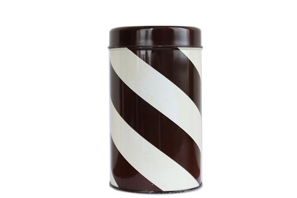 aarikka アーリッカ            コーヒー缶 Mサイズ/ ブラウンストライプ