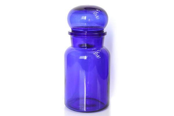 ベルギーのガラス瓶           コバルトブルー / Lsize