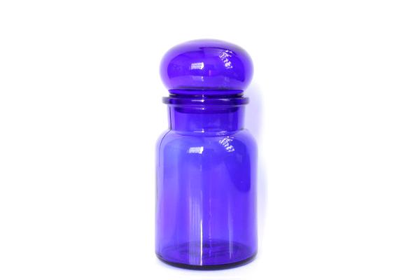 ベルギーのガラス瓶           コバルトブルー / M size