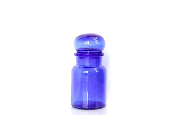 ベルギーのガラス瓶           コバルトブルー / S size
