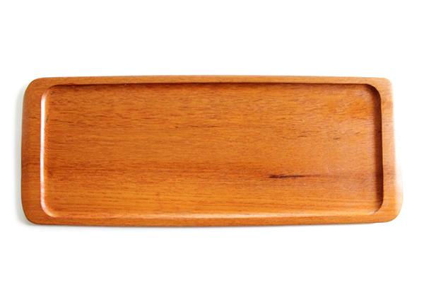 北欧ビンテージ トレー        チーク材トレー