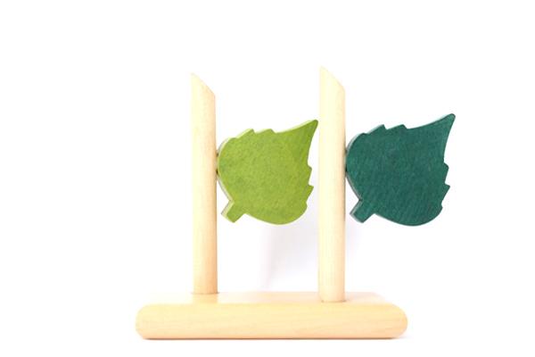 aarikka アーリッカ          ナプキンスタンド(木の葉)/ 木製