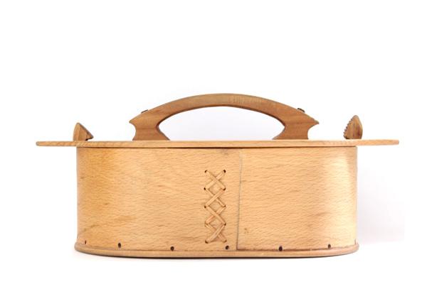 北欧ビンテージ バスケット    OVAL BOX (蓋付き) / スウェーデン