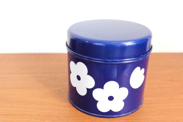aarikka アーリッカ           缶 Sサイズ/ ネイビーブルー