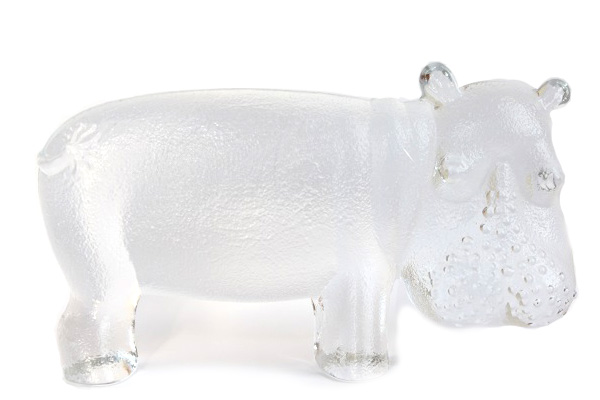BODA by Bertil Vallien       カバ L size/ガラス製品