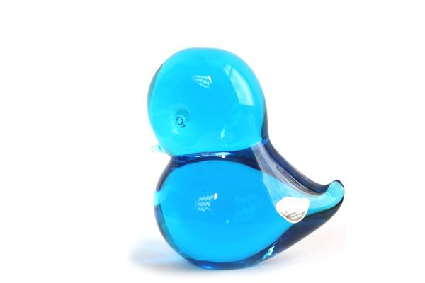 FM Konst glas            とり ブルー/ ガラス製品