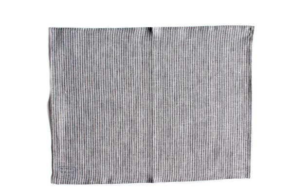 プレイスマット グレーホワイトストライプ / fog linen work