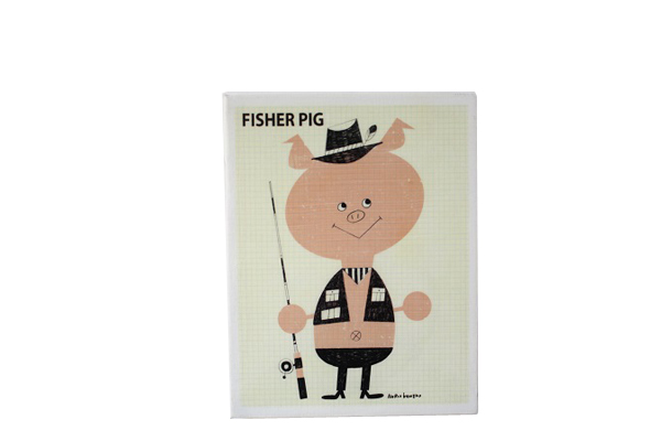 FLIP イラストレーション      FISHER PIG / S size