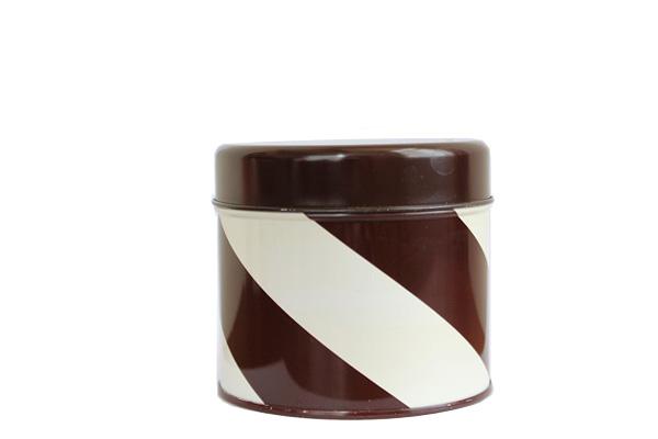 aarikka アーリッカ            コーヒー缶 Sサイズ/ ブラウンストライプ