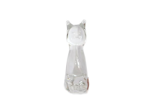 OLANDS HYTTAN            猫 クリアー/ ガラス製品