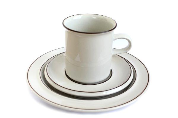 ARABIA Fennicaフェニカ            コーヒーC&S+プレート17cm