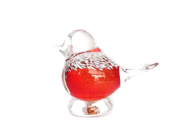Finland glas         とり(レッド) / ガラス製品