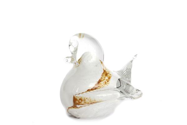 VRIGSTAD glasbruk         とり(ホワイト) / ガラス製品