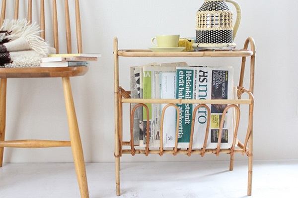 Magazine rack&table          マガジンラック&テーブル/ デンマーク 1950's-60's (送料無料)