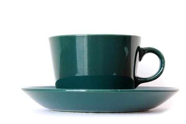 ARABIA TEEMA            コーヒーカップ&ソーサー/220 ml グリーン1