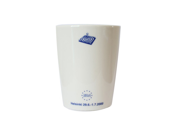 ARABIA TEEMA(EDAコラボ)            マグカップ(持ち手なし)/250 ml ホワイト