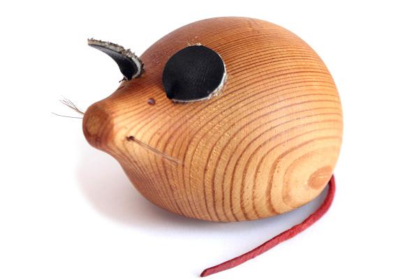 aarikka アーリッカ          ねずみのオブジェ/ 木製