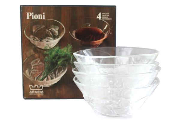 Nuutajarvi / ARABIA           PIONI ピオニ / ボウル15cm 箱入り4個セット