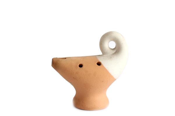 オカリナ 置物          オブジェ Sサイズ/ 陶器