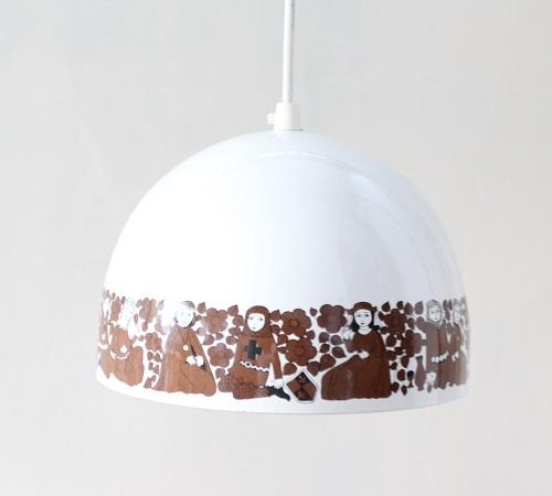 FINEL              琺瑯ランプ 21cm(ホワイト)